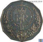 50 Cents - Elizabeth II (4th Portrait - Longest-Reigning Commonwealth Monarch) -  reverse