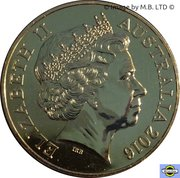 50 Cents - Elizabeth II (4th Portrait - 50th Anniversary of Decimal Currency - Gold Plated) -  obverse