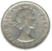 """1 Florin - Elizabeth II (1st portrait; without """"F:D:"""") – obverse"""