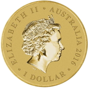 1 Dollar - Elizabeth II (4th Portrait - Year of the Monkey) -  obverse