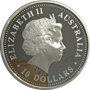 10 Dollars - Elizabeth II (4th Portrait - Evolution of the Calendar - Silver Bullion Coin) – obverse
