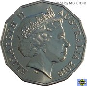 50 Cents - Elizabeth II (4th Portrait - 11 - Holden VC Commodore) -  obverse