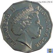 50 Cents - Elizabeth II (4th Portrait - Australians at War 13 - Korean War) -  obverse