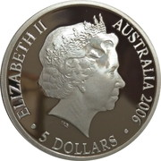 5 Dollars - Elizabeth II (4th Portrait - 400th Anniversary of Duyfken's Exploration of Australia - Silver Proof) -  obverse