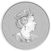 30 Dollars - Elizabeth II (6th Portrait - Humpback Whale - Platinum Bullion Coin) -  obverse