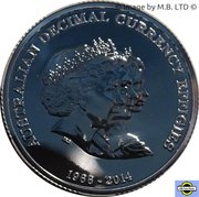 1 Dollar  - Elizabeth II (4th Portrait - Triple Effigies - Silver Gem-Proof) -  reverse