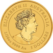 5 Dollars - Elizabeth II (6th Portrait - Year of the Mouse) -  obverse