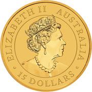15 Dollars - Elizabeth II (6th Portrait - Kangaroo) -  obverse