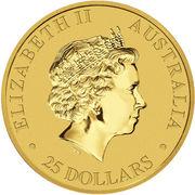 25 Dollars - Elizabeth II (4th Portrait - Kangaroo - Gold Bullion Coin) -  obverse