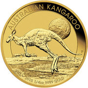 25 Dollars - Elizabeth II (4th Portrait - Kangaroo - Gold Bullion Coin) -  reverse