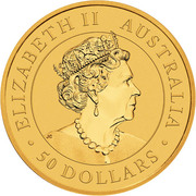 50 Dollars - Elizabeth II (6th Portrait - Kangaroo) -  obverse
