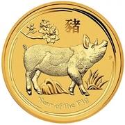 50 Dollars - Elizabeth II (4th Portrait - Year of the Pig - Gold Bullion Coin) -  reverse