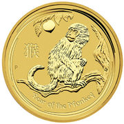 50 Dollars - Elizabeth II (4th Portrait - Year of the Monkey - Gold Bullion Coin) -  reverse