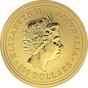 100 Dollars - Elizabeth II (4th Portrait - Year of the Horse - Gold Bullion Coin) -  obverse