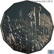 50 Cents - Elizabeth II (4th Portrait - Fromelles) -  reverse