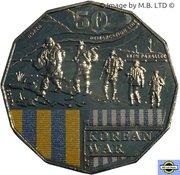 50 Cents - Elizabeth II (4th Portrait - Australians at War 13 - Korean War) -  reverse