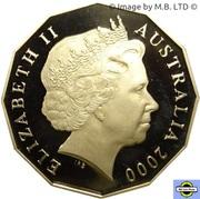 50 Cents - Elizabeth II (4th Portrait - Millennium- colourised) -  obverse