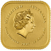 15 Dollars - Elizabeth II (4th Portrait - Australian Legal Tender Gold Unit) -  obverse