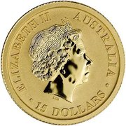 15 Dollars - Elizabeth II (Australian Wedge-Tailed Eagle) -  obverse