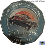 50 Cents - Elizabeth II (4th Portrait - 01 - Holden 48 215 FX) -  reverse