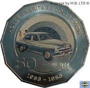 50 Cents - Elizabeth II (4th Portrait - 02 - Holden FJ) – reverse
