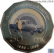50 Cents - Elizabeth II (4th Portrait - 06 - Holden EH) – reverse