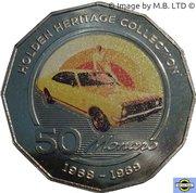50 Cents - Elizabeth II (4th Portrait - 07 - Holden HK Monaro) -  reverse