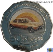 50 Cents - Elizabeth II (4th Portrait - 08 - Holden HQ Kingswood) – reverse