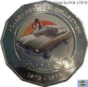 50 Cents - Elizabeth II (4th Portrait - 10 - Holden LJ Torana GTR XU 1) – reverse
