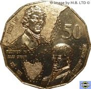 50 Cents - Elizabeth II (3rd Portrait - Bass & Flinders) -  reverse