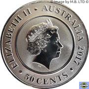 50 Cents - Elizabeth II (4th Portrait - Planetary Coins - Jupiter) -  obverse