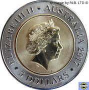 5 Dollars - Elizabeth II (4th Portrait - Planetary Coins - Saturn) -  obverse