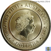 5 Dollars - Elizabeth II (4th Portrait - Planetary Coins - The Sun) -  obverse