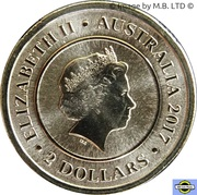 2 Dollars - Elizabeth II (4th Portrait - Planetary Coins - Mars) -  obverse