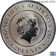 20 Cents - Elizabeth II (4th Portrait - Planetary Coins - Uranus) -  obverse