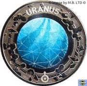20 Cents - Elizabeth II (4th Portrait - Planetary Coins - Uranus) -  reverse