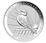 10 Dollars - Elizabeth II (6th Portrait - Kookaburra - 30th Anniversary) -  reverse