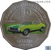 50 Cents - Elizabeth II (4th Portrait - 08 - Ford XA Falcon Coupe) -  reverse