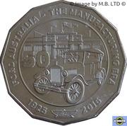 50 Cents - Elizabeth II (4th Portrait - 12 - Ford Australia - The Manufacturing ERA) -  reverse