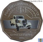 50 Cents - Elizabeth II (4th Portrait - 02 - Ford Model 40 Coupe Utility) -  reverse
