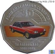 50 Cents - Elizabeth II (4th Portrait - 11 - Ford XE Falcon Sedan) -  reverse