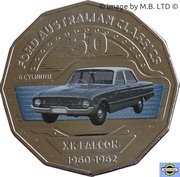 50 Cents - Elizabeth II (4th Portrait - 04 - Ford XK Falcon Sedan) -  reverse