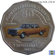 50 Cents - Elizabeth II (4th Portrait - 06 - Ford XR Falcon GT) -  reverse