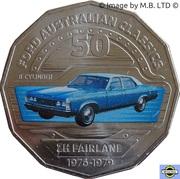 50 Cents - Elizabeth II (4th Portrait - 09 - Ford ZH Fairlane Sedan) -  reverse