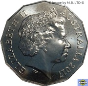 50 Cents - Elizabeth II (4th Portrait - Bullecourt) -  obverse