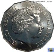 50 Cents - Elizabeth II (4th Portrait - Passchendaele) -  obverse