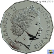 "50 Cents - Elizabeth II (4th Portrait - ""3801"" A Legend of Steam) -  obverse"