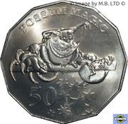 50 Cents - Elizabeth II (6th Portrait - Possum Magic) -  reverse
