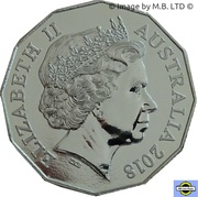 50 Cents - Elizabeth II (4th Portrait - Coral & Balmoral) -  obverse