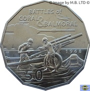 50 Cents - Elizabeth II (4th Portrait - Coral & Balmoral) -  reverse